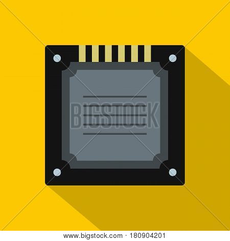 Modern multicore CPU icon. Flat illustration of modern multicore CPU vector icon for web