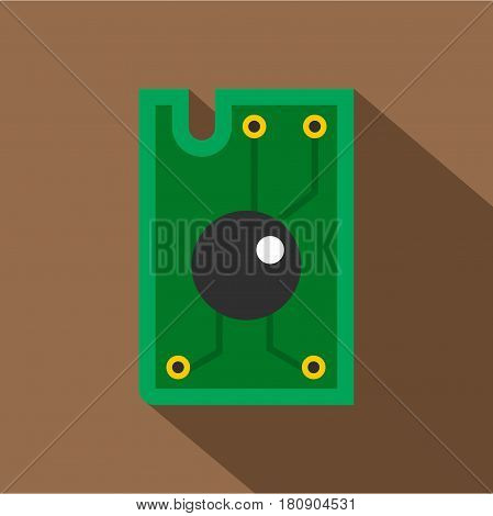 Processor chip icon. Flat illustration of processor chip vector icon for web