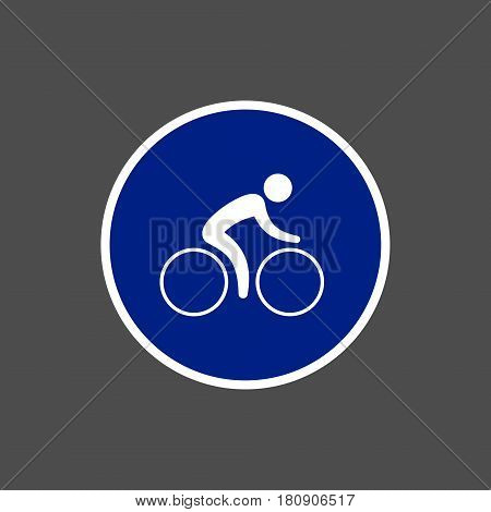 Bicycle road sign vector isolated cyclist path symbol.