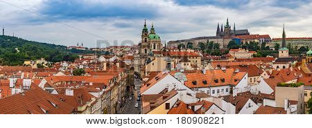 Prague panorama city skyline Prague Czech Republic