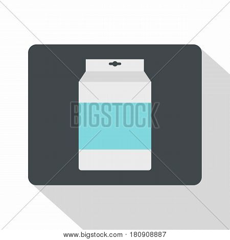 Box of milk icon. Flat illustration of box of milk vector icon for web