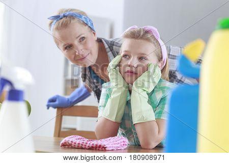 Mom Looking At Daughter
