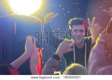 Dj In Front Of Crowd