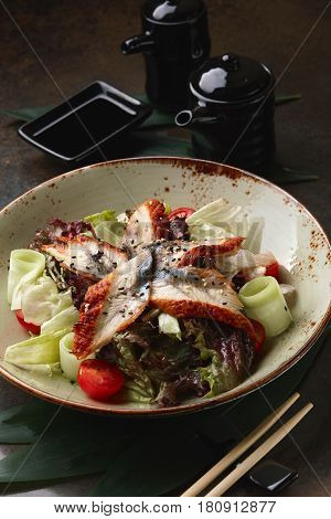 Japanese Salad With Eel.