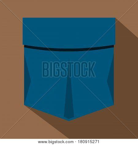 Pocket symbol icon. Flat illustration of pocket symbol vector icon for web