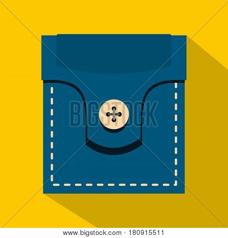 Fashion pocket for shirt icon. Flat illustration of fashion pocket for shirt vector icon for web