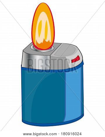 Subject cigarette lighter on white background is insulated