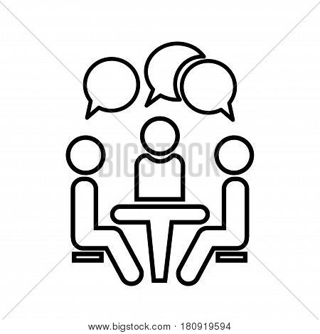 Conference icon. People sitting at the table.Conference icon. People sitting at the table.
