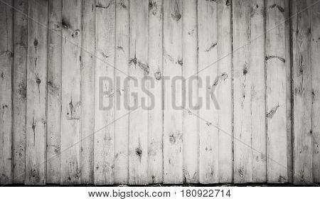 Old Grungy White Wooden Wall, Frontal Texture