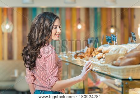Young woman in shop