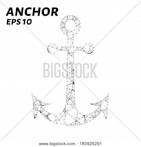 The Anchor Consists Of Points, Lines And Triangles. The Polygon Shape In The Form Of A Silhouette Of