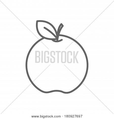 figure apple fruit icon stock, vector illstration design image