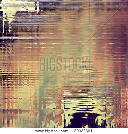 Grunge background or vintage texture in traditional retro style. With different color patterns: yellow (beige); brown; green; gray; red (orange); purple (violet)
