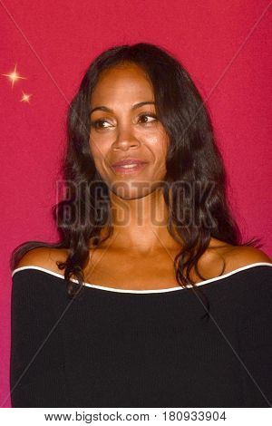 LOS ANGELES - APR 7:  Zoe Saldana at the Madame Tussauds Hollywood Zoe Saldana Wax Figure Unveiling  at the Madame Tussauds Hollywood on April 7, 2017 in Los Angeles, CA