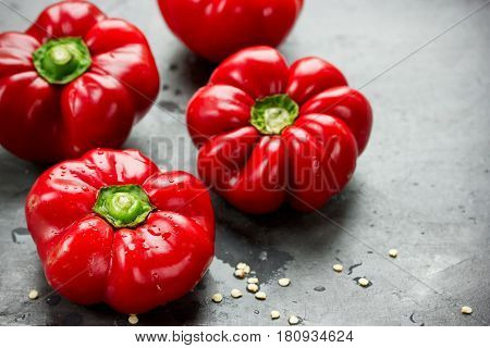 Red bell peppers pepper ratunda gogoshar close up