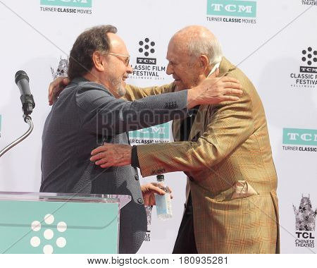 LOS ANGELES - APR 7:  Billy Crystal, Carl Reiner at the Carl and Rob Reiner Hand and Footprint Ceremony at the TCL Chinese Theater IMAX on April 7, 2017 in Los Angeles, CA
