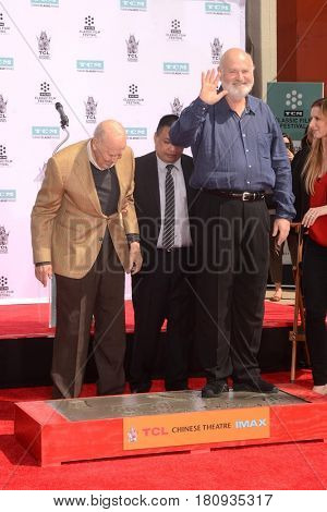 LOS ANGELES - APR 7:  Carl Reiner, Rob Reiner at the Carl and Rob Reiner Hand and Footprint Ceremony at the TCL Chinese Theater IMAX on April 7, 2017 in Los Angeles, CA