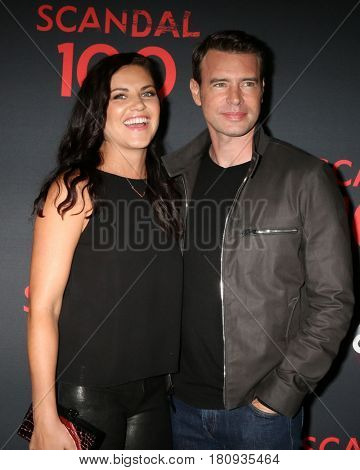 LOS ANGELES - APR 8:  Marika Dominczyk, Scott Foley at the