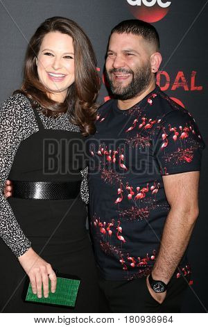 LOS ANGELES - APR 8:  Katie Lowes, Guiillermo DIaz at the