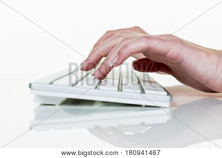 woman in office with computer