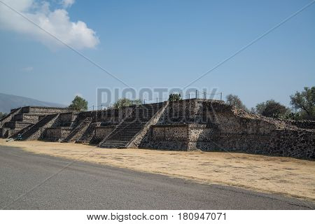 Teotihuacan, Mexico, circa february 2017: View on the Archeological site Teotihuacan, Mexico