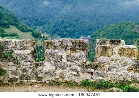 Fortress on the top of the hill in the town Jajce - Bosnia and Herzegovina