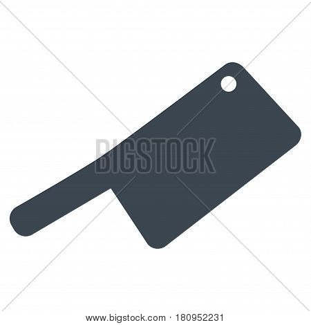 Butchery Knife flat vector pictogram. An isolated illustration on a white background.