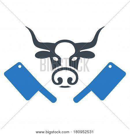 Butchery Knives flat vector pictogram. An isolated illustration on a white background.