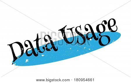 Data Usage rubber stamp. Grunge design with dust scratches. Effects can be easily removed for a clean, crisp look. Color is easily changed.