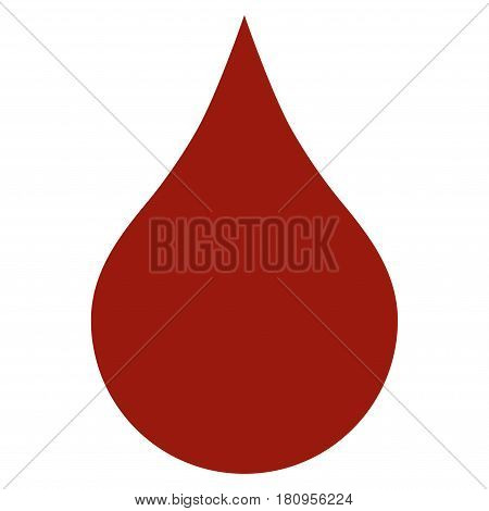 Red Blood Drop flat vector icon. An isolated illustration on a white background.