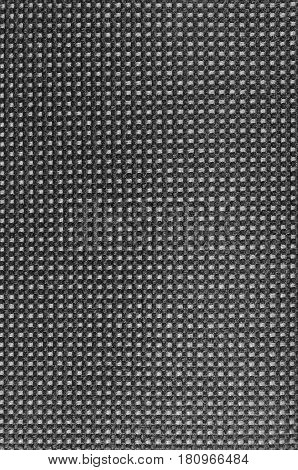 Grey nylon textile texture macro closeup gray vertical pattern detail textured salt and pepper style black and white melange synthetic fabric detailed background