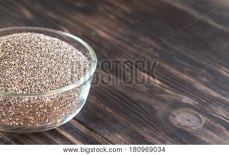 Glass Bowl Of Chia Seeds