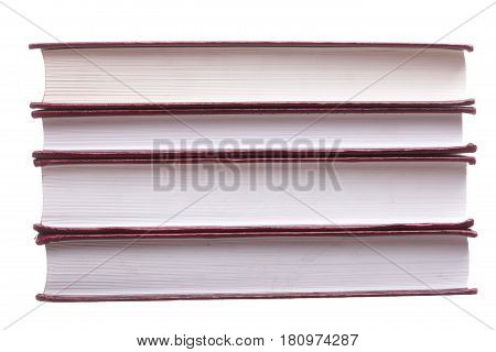Isolated Red Pile Books