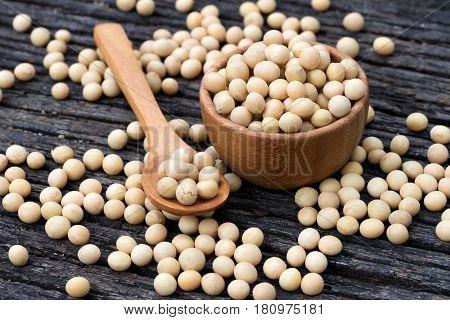 Heap Of Soya Beans