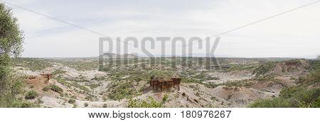 Panorama Over Oldupai Gorge, Tanzania