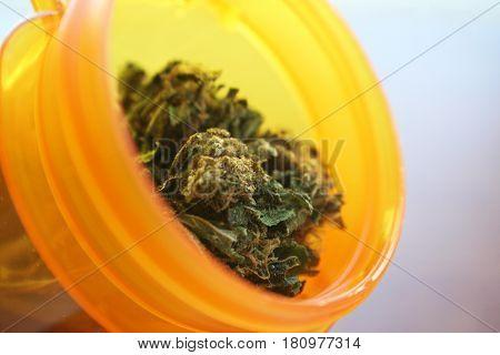 Medical Marijuana In Prescription Bottle High Quality
