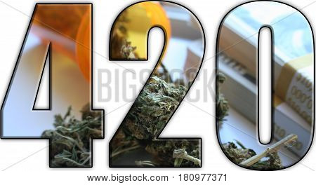 Marijuana And Money 420 Logo High Quality