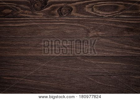 Dark Brown Scratched Wooden Cutting Board. Wood Texture Background