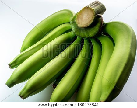 Raw Cavendish banana Isolated on white background