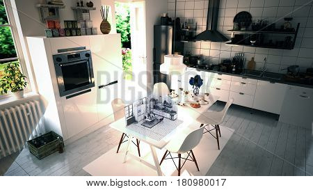 Augmented Reality Kitchen Interior Design Remodeling 3D