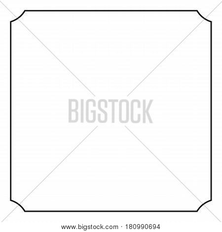Vintage border of frame, vector illustration. White background