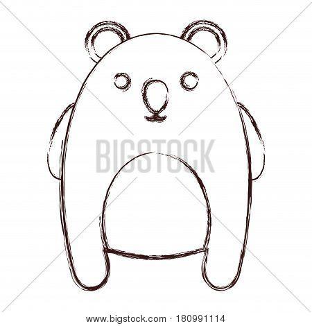 kawaii koala animal icon over white background. vector illustration