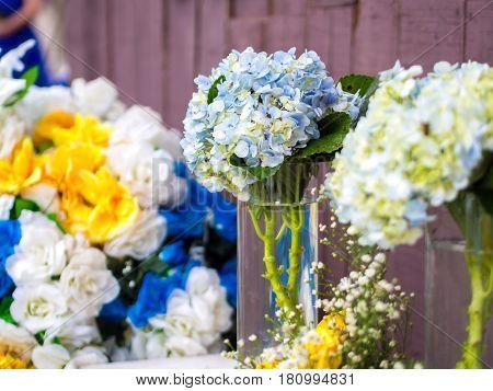 Beautiful Hortensia Flower Arrangement . . .