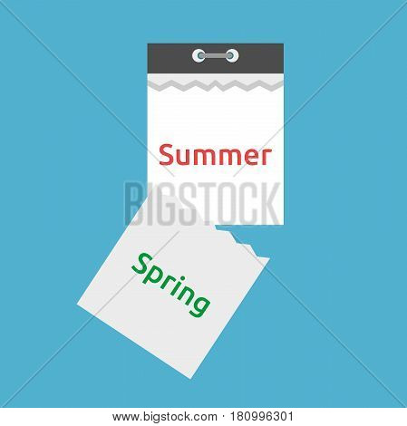 Tear-off Calendar, Spring, Summer