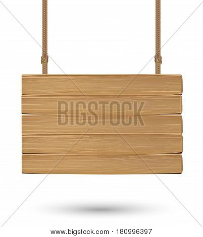 hanging wood board signs on a white background