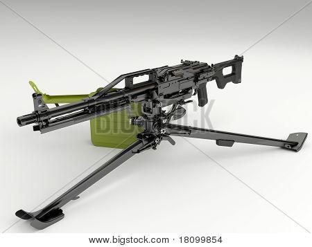 Machine gun Peheneg with a tripod mount