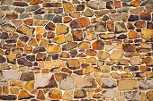 simply brown stone wall closeup texture background poster