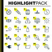 Set Of 25 Universal Editable Icons. Can Be Used For Web, Mobile And App Design. Includes Elements Such As Spigot, Warranty, Firework And More. poster