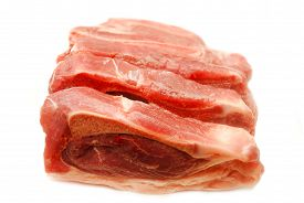 Fresh Pork Ribs Isolated Over a White Background
