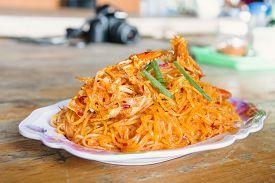 Pad Thai Famous Thai Cuisine in Chanthaburi Province Thailand
